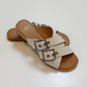 Franco Sarto Women's Gaia Slide Sandal White 7.5